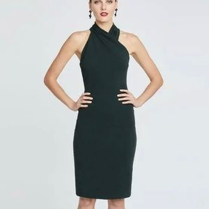 Rachel Roy Halter Sheath Dress in Evergreen small